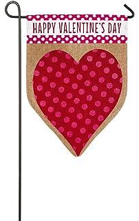 Nice Evergreen Valentineu0027s Day Heart Burlap Garden Flag, 12.5 X 18 Inches