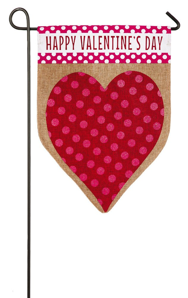 Gentil Amazon.com : Evergreen Valentineu0027s Day Heart Burlap Garden Flag, 12.5 X 18  Inches : Garden U0026 Outdoor