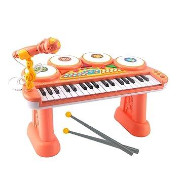Puzzle de Piano Teclado Mano De Los Niños Tambor De Jazz Dos En Uno Juguete Piano