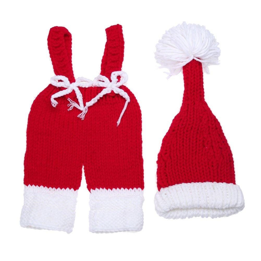 Domybest Set di Vestiti Neonati di Cotone Abbigliamento Infantile di Fotografia per Natale