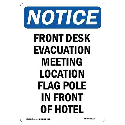 Señal de advertencia de Osha - reunión de evacuación de ...