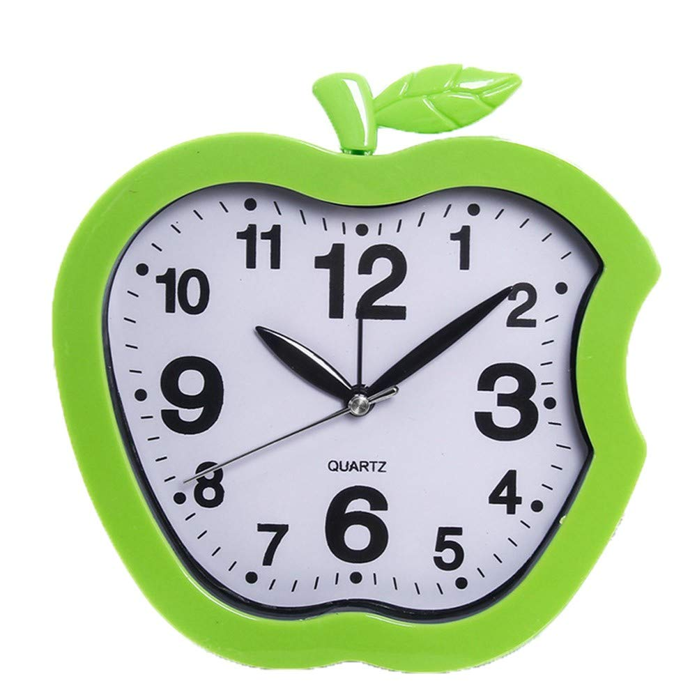 xin603 Small alarm clock creative candy color fashion personality student child small alarm clock one AA battery, green