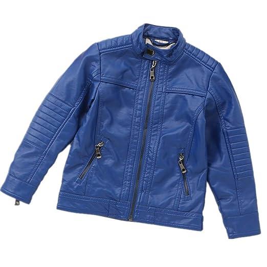 9adea6f17b54 Amazon.com  LJYH Boys Leather Jacket Spring Children s Stand-Collar ...