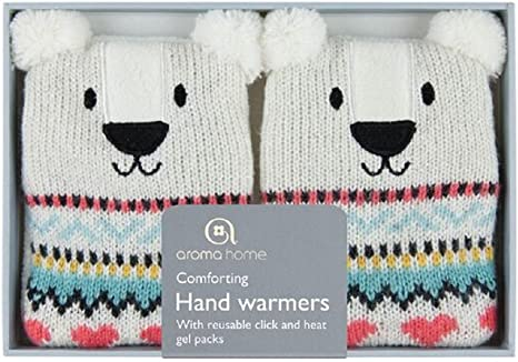 Aroma Home Click /& Heat Knitted Hand Warmers Purple Owl