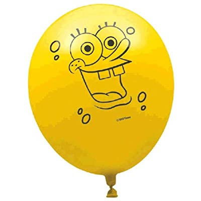 "Spongebob 12"" Balloons (6 per package): Toys & Games"