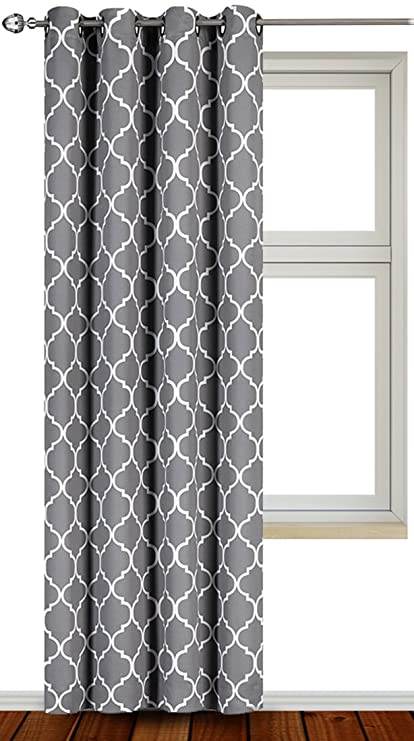 Utopia Bedding Blackout Room Darkening Curtains Window Panel Drapes   1  Panel   52 Inches Wide