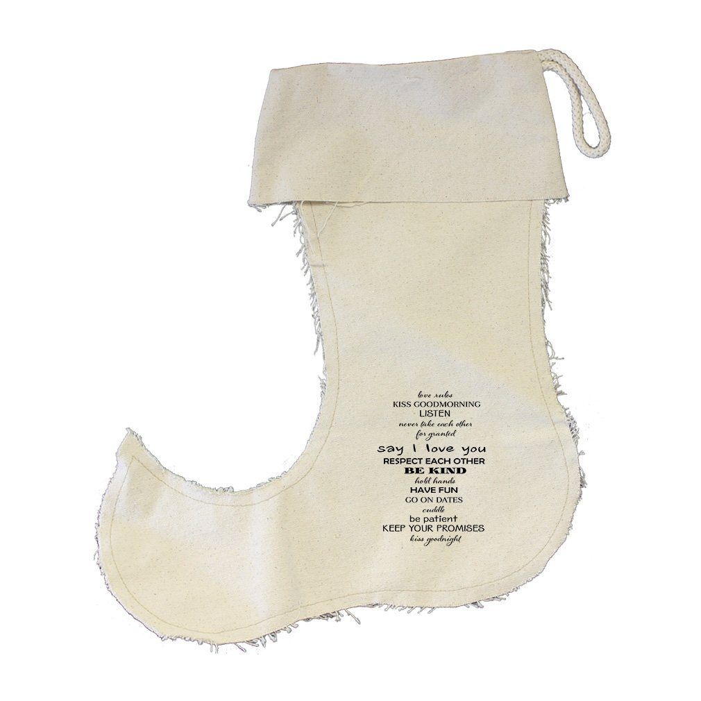 Granted Say I Love You Respect Kind Etc Cotton Canvas Stocking Jester - Large by Style in Print (Image #1)