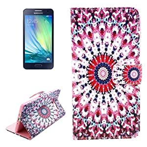 National Style Sunflower Pattern Colored Drawing Leather Case with Holder & Card Slots & Wallet for Samsung Galaxy A7 / A700F