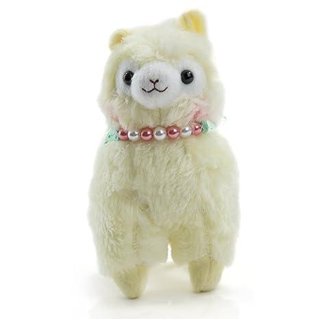 Pequeño alpaca Peluche en amarillo con cuentas collar – Pequeño schläfriges Anime y manga Peluche y