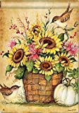 Cheap BreezeArt Sunflower Mix 28″ X 40″ House Flag – Sunflowers, Gourd, Pumpkin, Birds