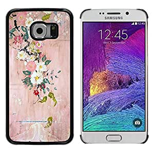 Paccase / SLIM PC / Aliminium Casa Carcasa Funda Case Cover - Blossoming Tree Art Painting - Samsung Galaxy S6 EDGE SM-G925