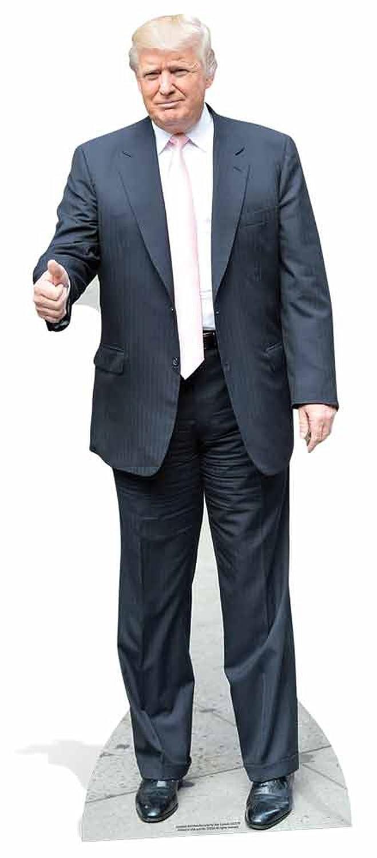 Donald Trump - Pink Tie Pappaufsteller Pappfigur Standy - ca 71x188 cm