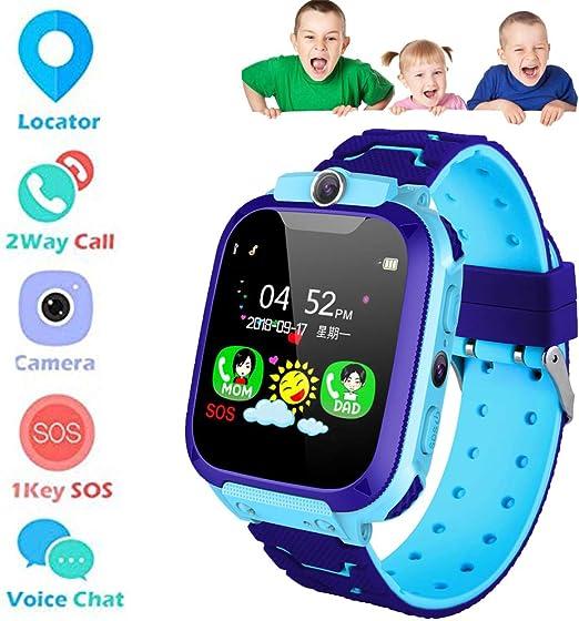 LBS Tracker Smart Watch - Reloj inteligente para niños Podómetro con llamada SOS Anti-pérdida de alarma Monitor remoto GPS LBS Localizador y cerca e