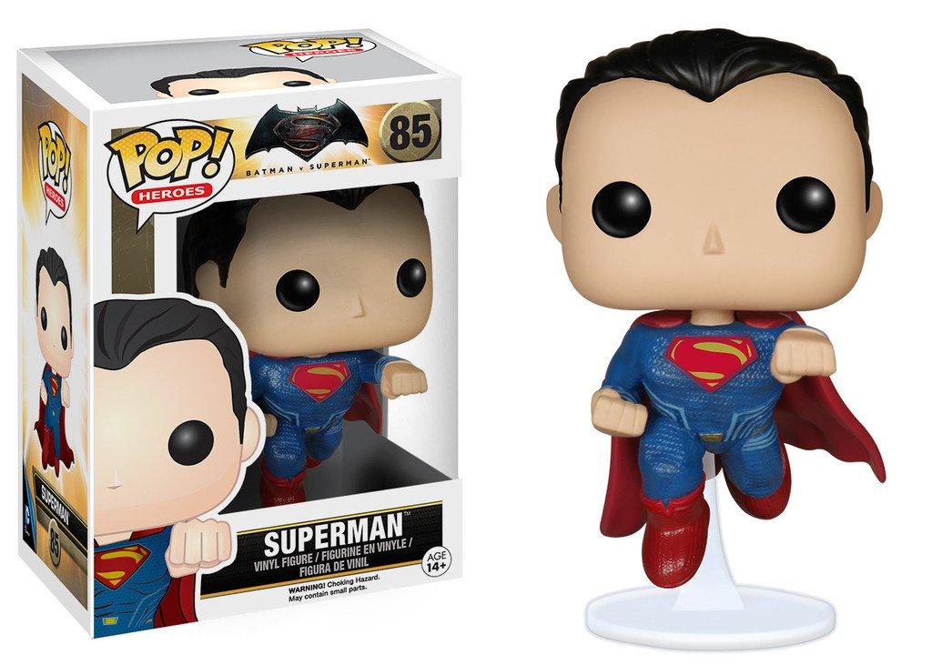 60268 x Batman v Superman Dawn of Justice Figure FUNKO//3060268 Superman: Funko POP 1 FREE Official DC Trading Card Bundle