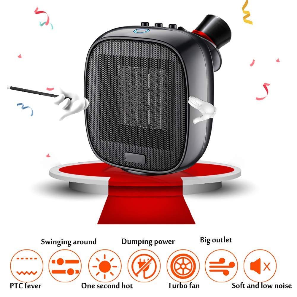Acquisto 1500W Portable Electric Heater, Tip-Over surriscaldamento di Protezione Regolabile Caldo & Cool modalità Fan Piccolo Spazio riscaldatore per Ufficio casa Camera da Letto Bagno dormitorio Desktop Prezzi offerte