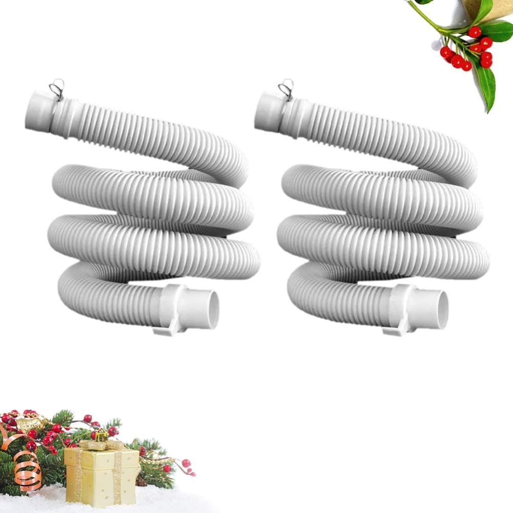 TOPBATHY Washing Machine Drain Discharge Hose Washer Hose Extension Kit Replacement Accessories for Washing Machine 2PCS 1.2M
