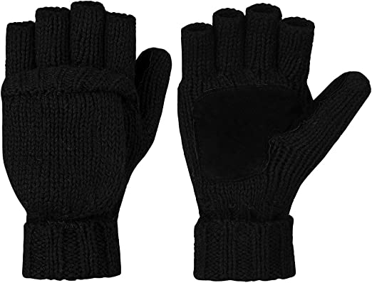 VBIGER Winter Gloves Warm Wool Mittens With Mitten Cover at Amazon Men's  Clothing store
