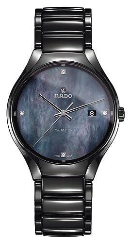Rado True Reloj de Mujer Diamante automático 40mm Correa de cerámica R27056872: Amazon.es: Relojes