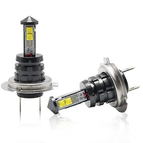 H7 LED Auto Faros Antiniebla Bombillas de Coche 1600LM 20W 6500K Blanco Lampara CSP Chip Para