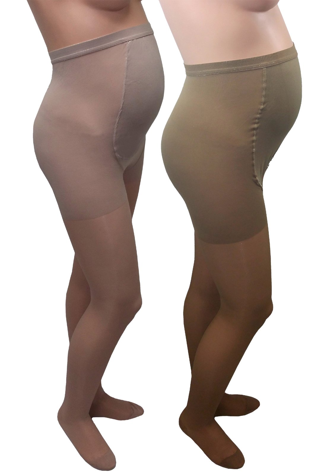 GABRIALLA Maternity Pantyhose - Compression (20-22 mmHg): H-260, 2 Count, Tall, Beige/Nude