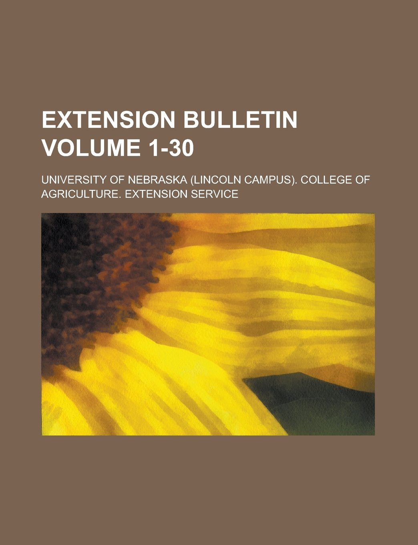 Extension bulletin Volume 1-30 pdf epub