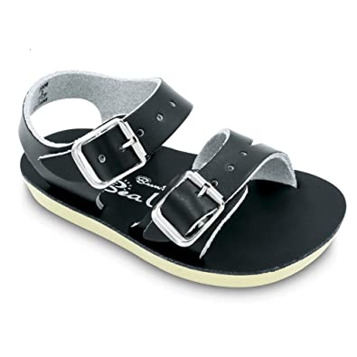 e3b64c82841e Salt Water Sandals Baby Sun-San Sea Wee Flat Sandal Black 0 M US Infant