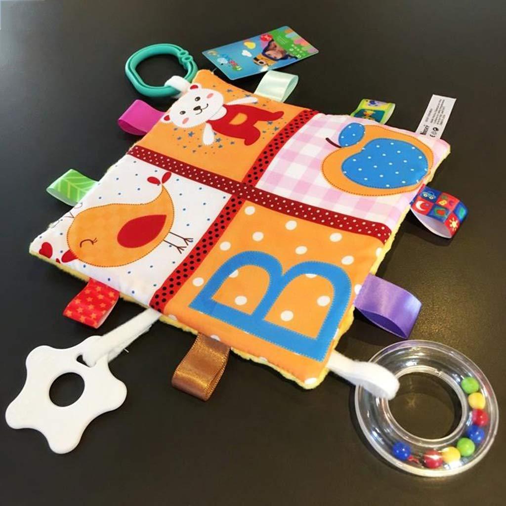 Ogquaton Toalla para beb/és de alta calidad Taggy Blanket Edred/ón de felpa que cuelga con mordedor y sonajero para bebe bebe beel con mordedor juguetes de peluche para bebe bebe estilo ni/ños 2