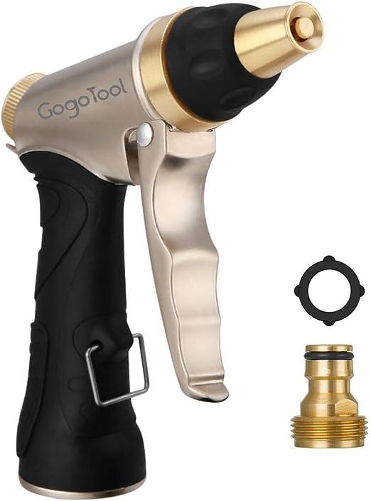 Pistola de Riego, GogoTool HN-01 Pistola para Manguera de riego /Pistolas de Agua - Alta Presión -