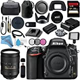 Nikon D750 DSLR Camera 1543 AF-S 28-300mm f/3.5-5.6G ED VR Lens 2191 + 77mm 3 Piece Filter Kit + Carrying Case + 256GB SDXC Card + Professional 160 LED Video Light Studio Series Bundle