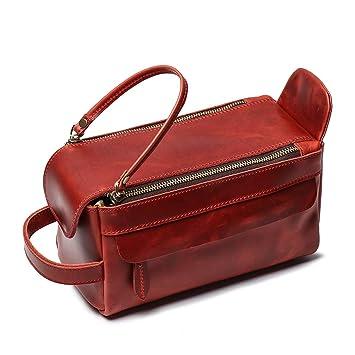 b8e7678c2829 Amazon.com   Leathfocus Leather Toiletry Bag