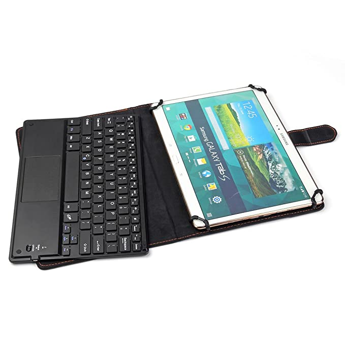 Universal 9 to 10.1 TouchPad Keyboard Case for Lenovo ThinkPad Tablet 2 10.1, Samsung Galaxy Tab A 9.7, Samsung Galaxy Tab S2 9.7, Asus ZenPad 10, ...