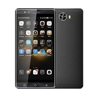 QUICKLYLY Smartphone//Telefono MovilTel/éfono Inteligente de 5.0 Pulgadas Desbloqueado Android 6.0 Celular Tel/éfono Inteligente Cu/ádruple Dual SIM 3G,Negro