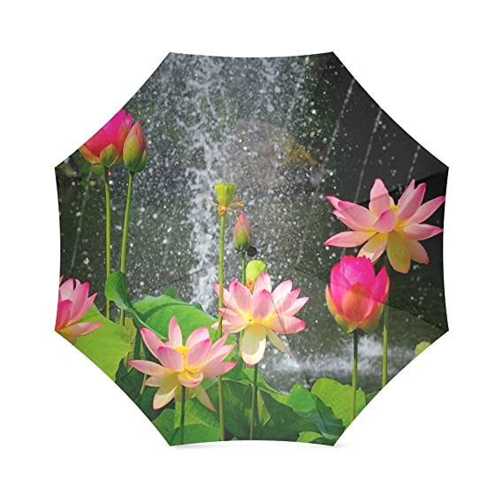 Romatic valentines day gifts 100 amazing lotus flower with romatic valentines day gifts 100 amazing lotus flower with dragonfly design fabric and aluminium foldable mightylinksfo