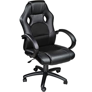 TecTake Silla de escritorio de oficina, Racing - disponible en diferentes colores (Negro): Amazon.es: Hogar