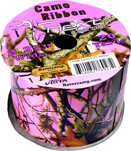 Military Hunting High Definition Pink Camo Poly Ribbon