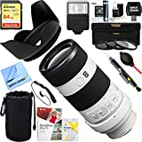 Sony SEL70200G 70-200mm Full Frame F4 G OIS Interchangeable Lens for Alpha Cameras + 64GB Ultimate Filter & Flash Photography Bundle