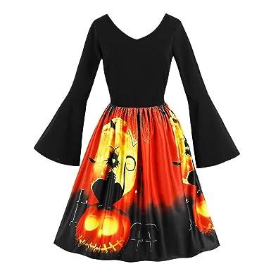 Hffan Halloween-Kostüm Damen Halloween Kürbis Schwarze Katze ...