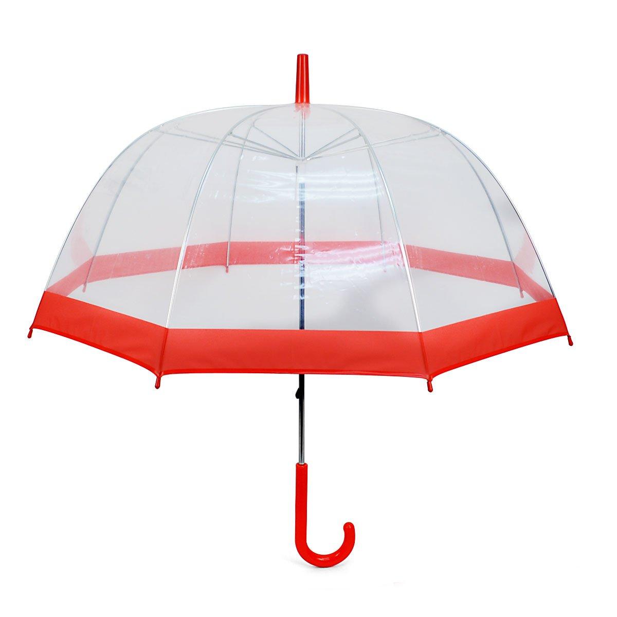 See-Thru-Bubble Wind Resistant Premium Clear Umbrella Selini NY