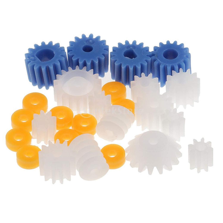 EKIND 26Pcs Plastic Spindle Worm Gear Set Assorted Plastic Shaft for Aircraft Car Model DIY Kit 2MM//2.3MM//3MM//3.17MM//4MM