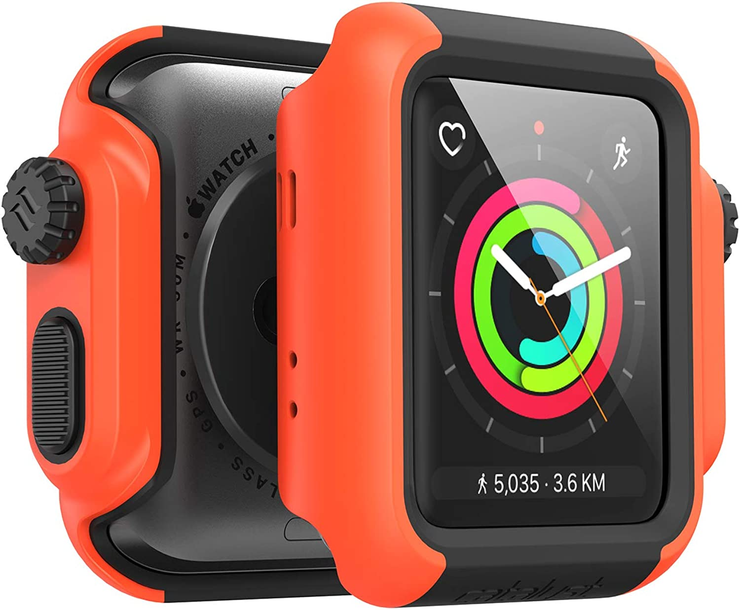 Designed for Apple Watch Impact Case 42mm Series 3 & 2 Rugged Protective Case by Catalyst, Drop Proof Shock Proof Impact Resistant Designed for Apple Watch Case, Sunset
