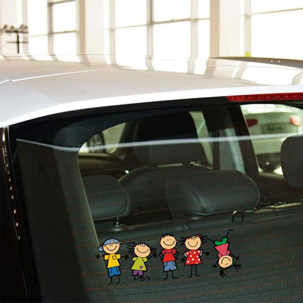 Grebest External Decoration Sticker Funny Cartoon Kid Boy Girl Car Sticker Wall Window Body Decal Car Styling Decor