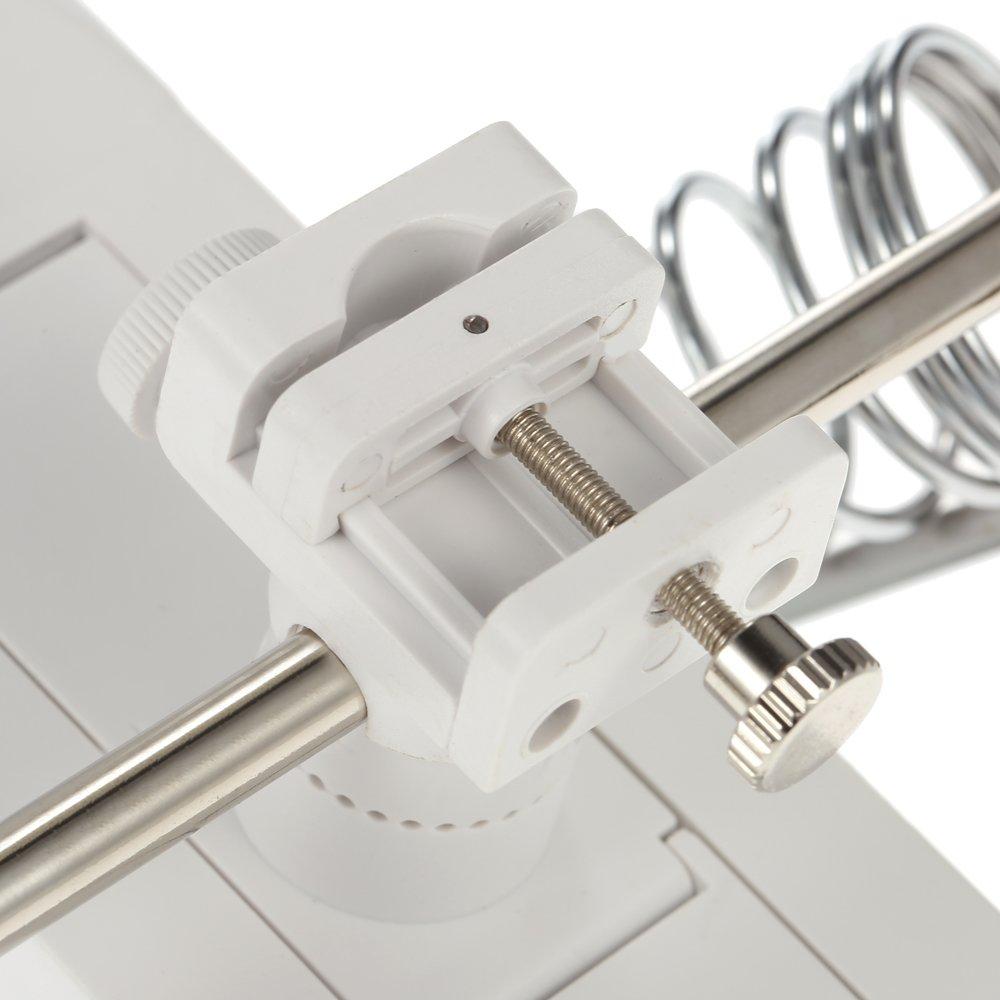 Lente ingrandimento Saldatura elettronica tavolo con morsetti,Led luminosi,Roeam Lente dingrandimento per saldatore Clip coccodrillo USB//Batteria 3X 4.5X regolabile,riparazione circuito stampato
