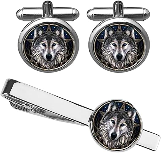 HOWLING WOLF CUFFLINKS MANUFACTURERS DIRECT PRICING
