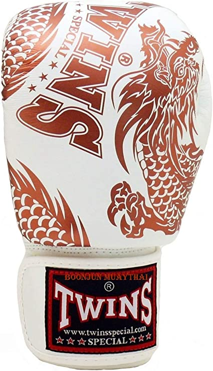 Twins Special FBGV-49 Dragon Series Velcro Leather MMA Muay Thai Boxing Gloves