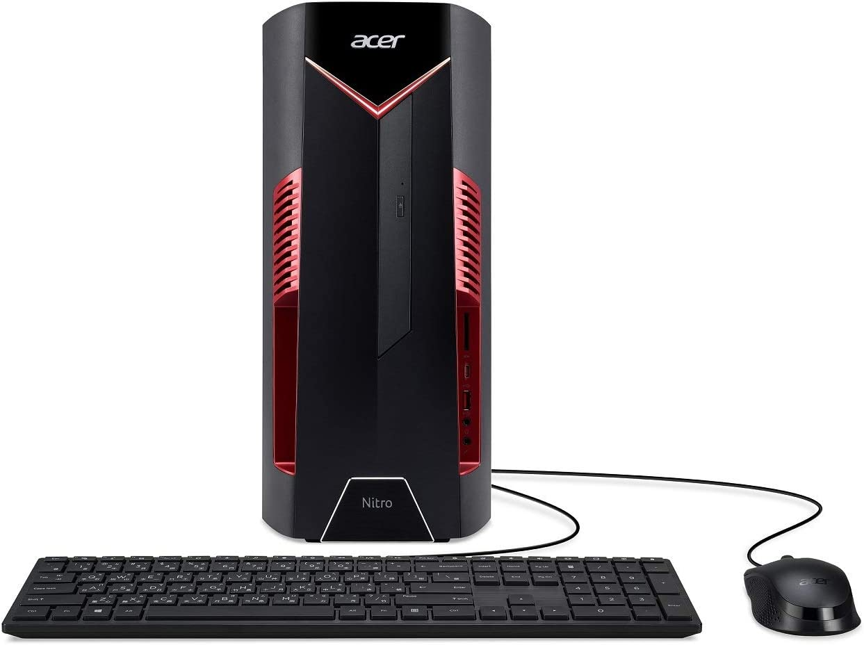 Acer Nitro 50 N50-600-UR1H Desktop, 9th Gen Intel Core i5-9400F, NVIDIA GeForce GTX 1650 Graphics with 4GB GDDR5, 8GB DDR4, 512GB SSD, Windows 10 Home