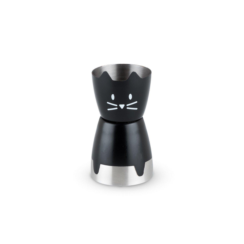 Jigger Stainless Steel, Cute Black Cat Cocktail Double Jigger