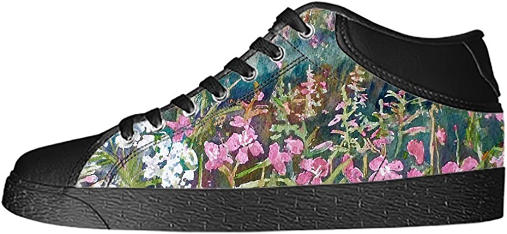 Custom Botany Mens Classic High Top Canvas Shoes Fashion Sneaker