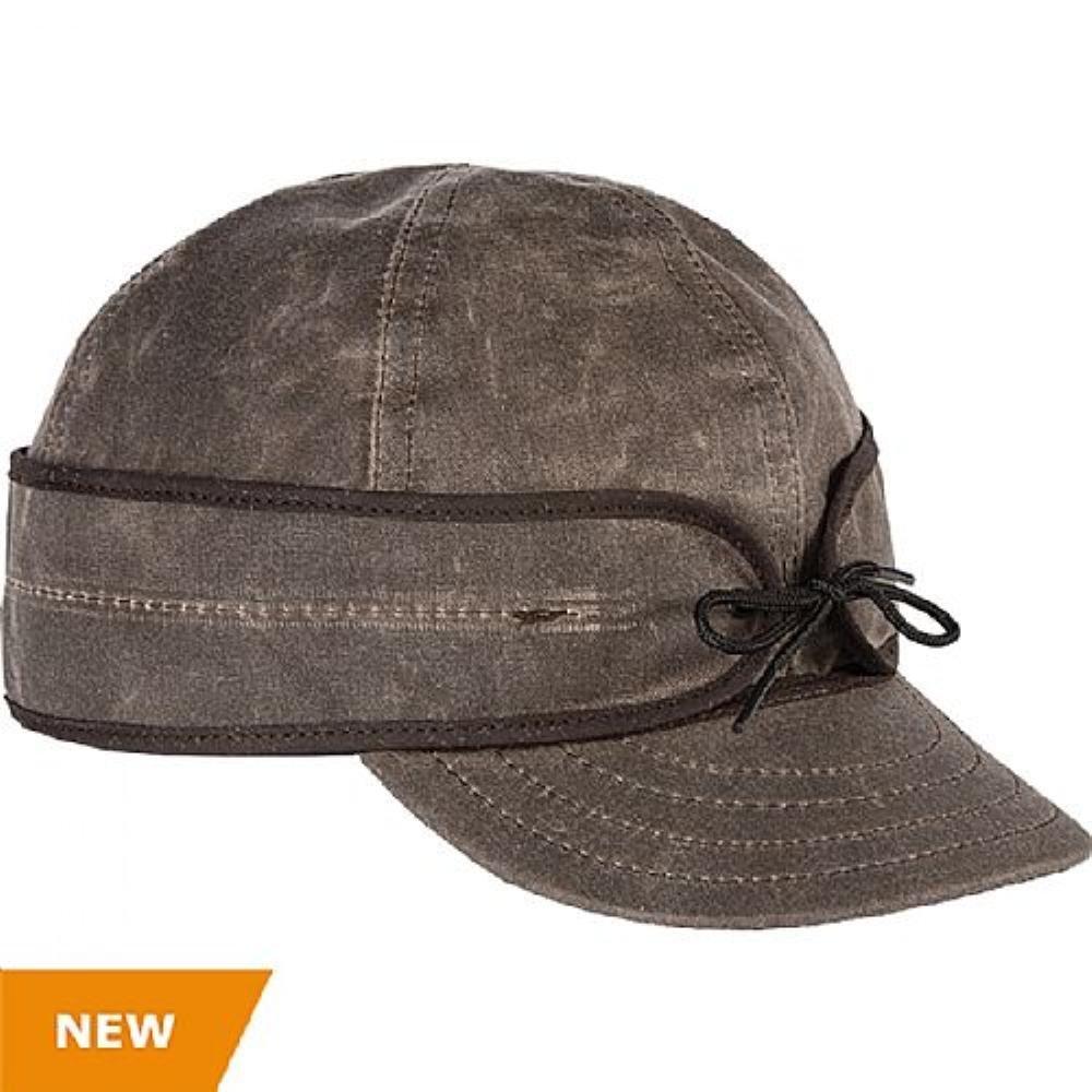 Stormy Kromer Men's The Waxed Cotton Cap, Dark Oak, 7 3/8 (Adult Large)