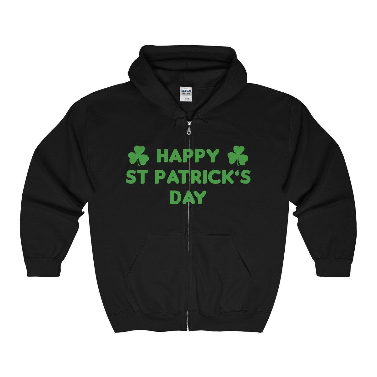 Vinteena Happy ST Patrick/_s Day Unisex Zip Hooded Sweatshirt-Tee