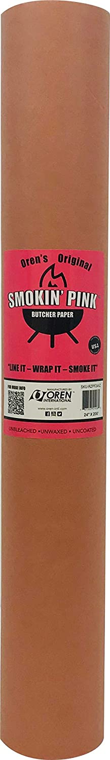 """Smokin' Pink Butcher Paper Kraft Roll 